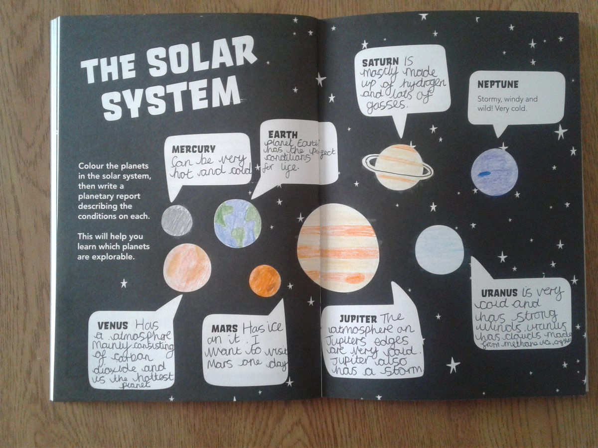 solar system worksheet for primary science
