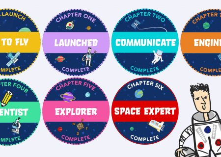 Collect Space Stickers as you finish your principia Space Diary